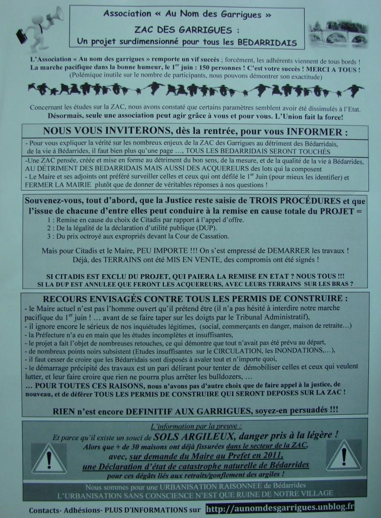 Réponse à la lettre d'information du Maire (tract Juillet 2013) tract-invitation-juillet-2013